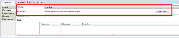 """Angabe des Adapters innerhalb der ServiceTask """"check ability for modeling"""""""